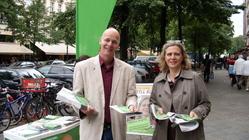 Auf der Maaßenstraße mit Sibyll Klotz, Stadträtin für Gesundheit, Soziales und Stadtentwicklung